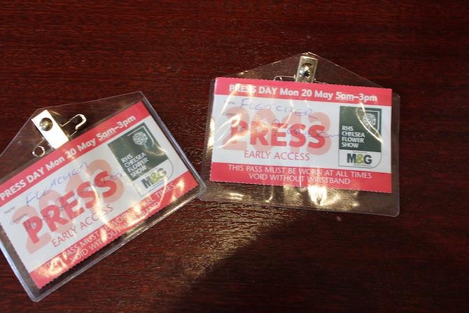 Chelsea Press Passes